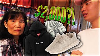 Mom Freaks Out at me for Buying Yeezys and a $1000 Hoodie (LIVE FOOTAGE)