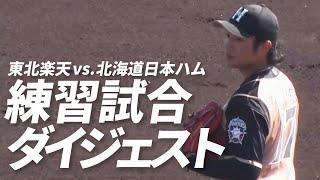 【練習試合】2月20日 東北楽天対北海道日本ハム 試合ダイジェスト