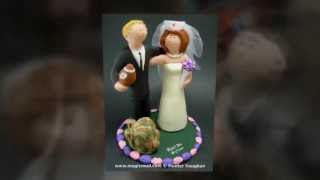 College Football Wedding Cake Toppers | wedding cake toppers