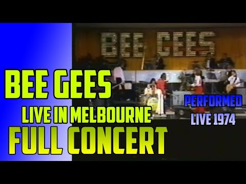 BEE GEES - Full Concert, LIVE in AUSTRALIA - Melbourne 1974 - Upscale FULL-HD 1080p