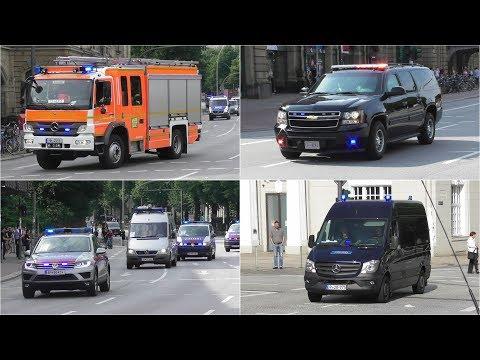 #G20HAM17 Einsatzfahrten beim G20 Gipfel in Hamburg Teil 1 (VIPs, WEGA, BePo, BF,...)