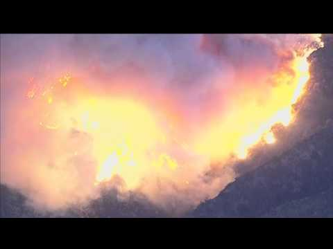 Incredible Footage Of California Wildfires Captured From Above