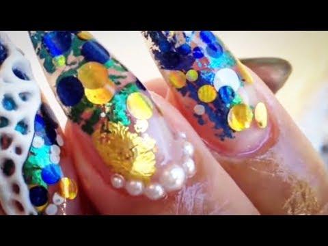 New nail art 2018 ENCAPSULATED GEL NAILS arte de uñas Nail art tutorial DIY nail art stiletto nails