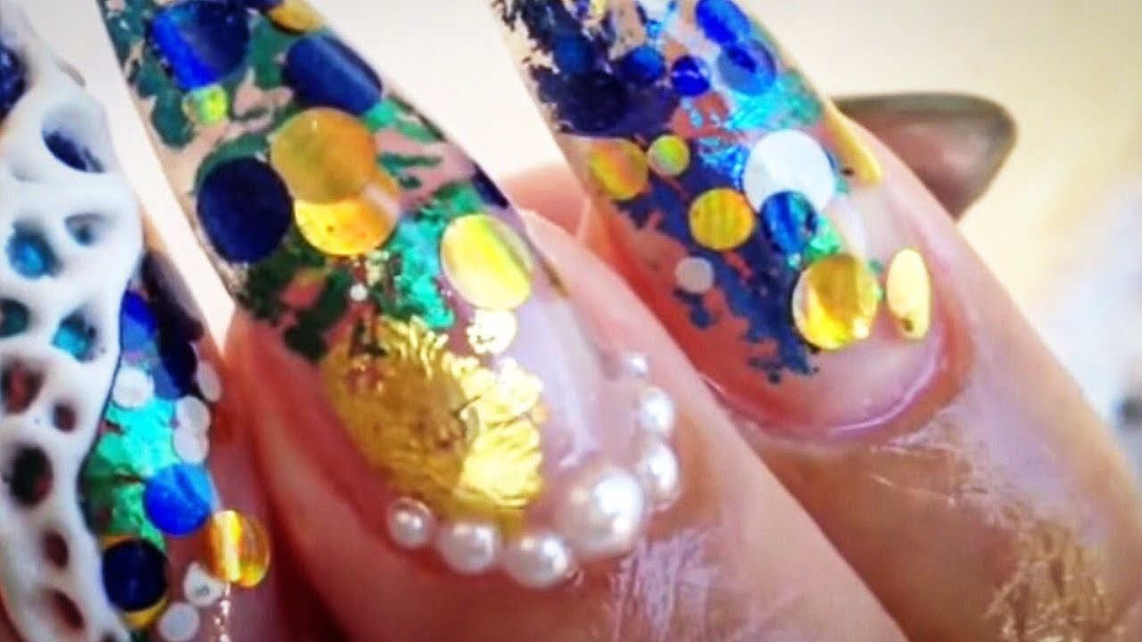 New nail art 2018 ENCAPSULATED GEL NAILS arte de uñas Nail art ...