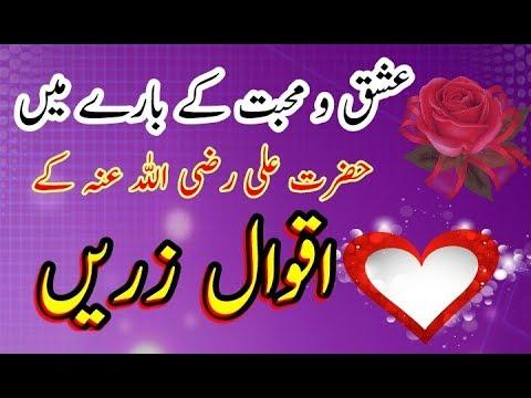 Hazrat Ali(R  Z ) ke Aqwal piyar o muhabbat ke bare me|اقوال زریں جو آپ کی  زندگی کا رخ بدل دے