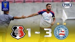 Melhores momentos de Santa Cruz 1 x 3 Bahia pela Copa do Nordeste