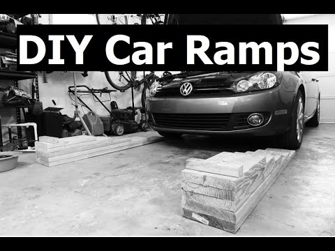 Homemade Wooden Car Ramps