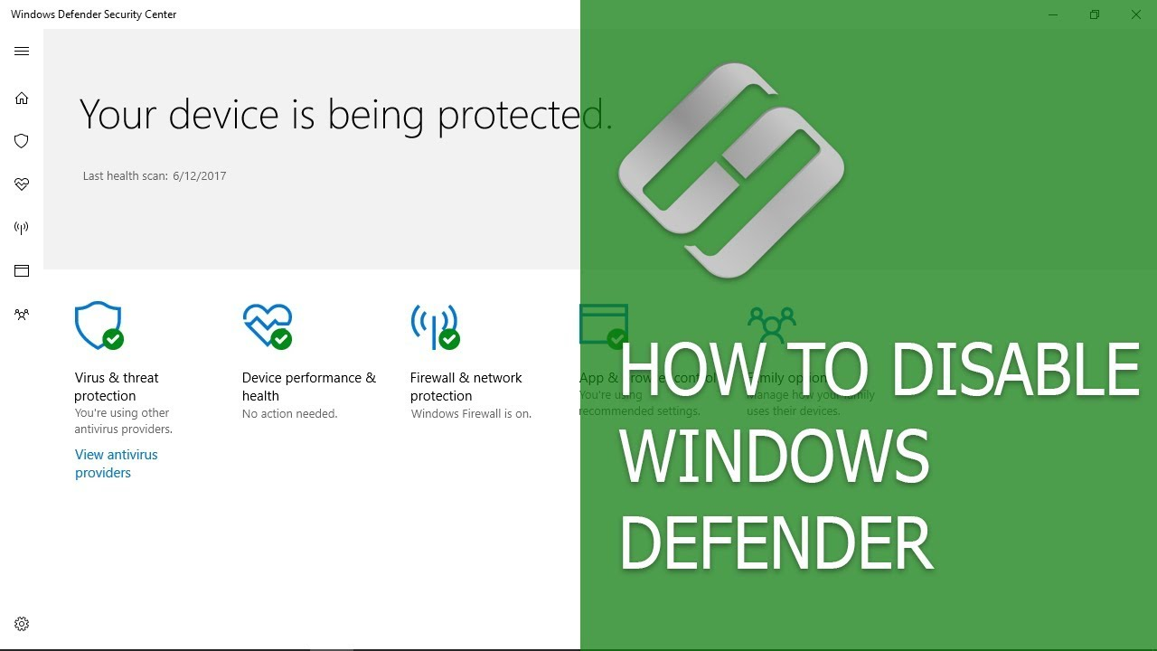 How to Enable or Disable Windows Defender in Windows 10 Creators Update  (Build 1703) 💻🛡️🚫