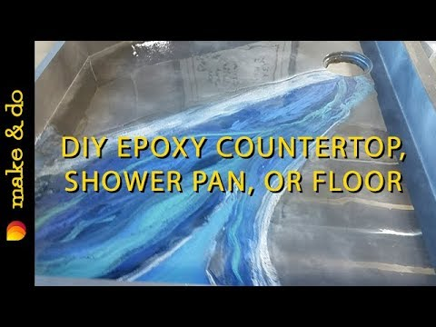 How to Make a River Table, Bar or Showerpan with Epoxy Resin