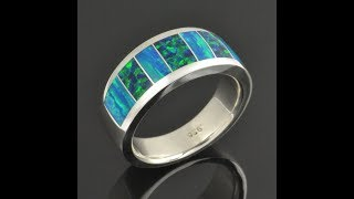 Lab Opal Ring for Men