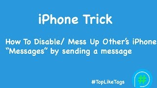 iPhone Trick - How to Disable/ Mess up Other's iPhone App