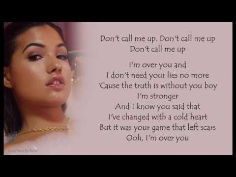 Mabel - Don't Call Me Up   Lyrics Songs