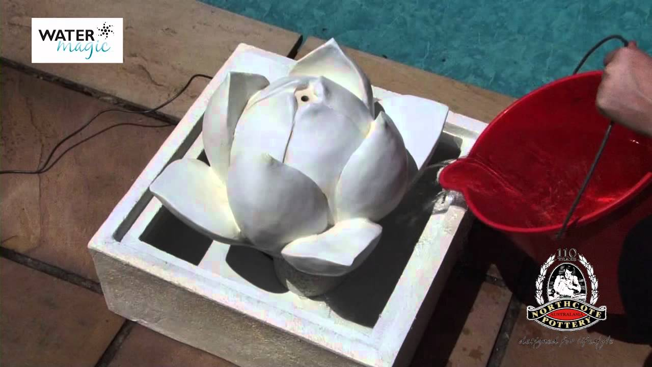 Water magic lotus flower fountain youtube dhlflorist Images