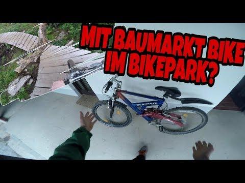 Downhill mit Billig Baumarktbike