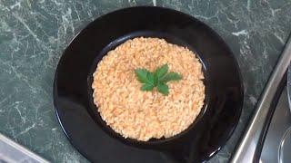 risotto con crema di gamberi
