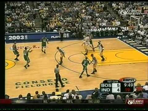 Celtics vs Pacers 2003 Playoffs (1st Quarter)