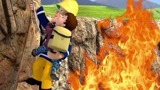 Sam el Bombero en Español :  Precipicio rescate de fuego - El equipo de bomberos 🔥 Dibujos animados