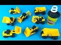 CAT Construction Mini Machines with playdoh play - Bulldozers Excavators Dump Truck