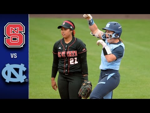 NC State Vs. North Carolina ACC Softball Championships Highlights (2017)