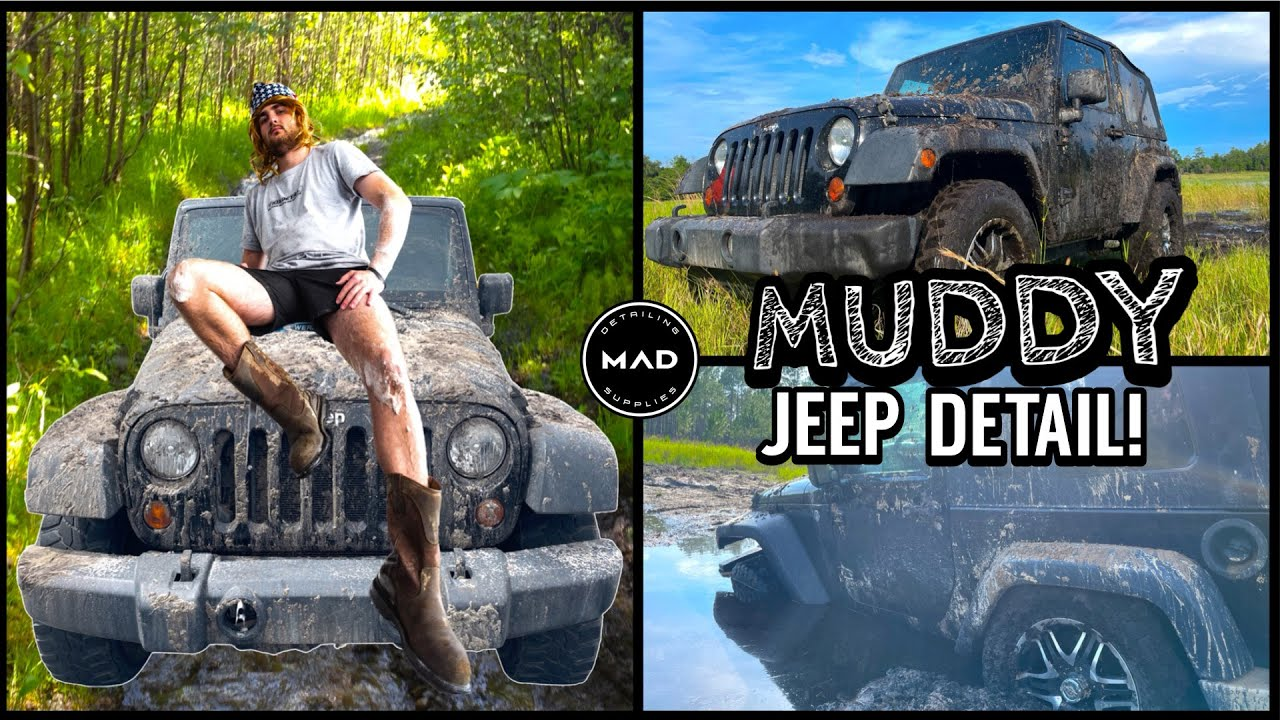 Deep Cleaning The Muddiest Jeep Wrangler! | Insane Satisfying Disaster Detail Transformation!