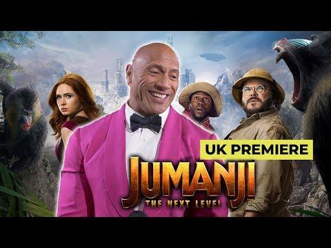 Jumanji Next Level: Dwayne 'The Rock' Johnson, Kevin Hart, Karen Gillan & Jack Black at UK Premiere