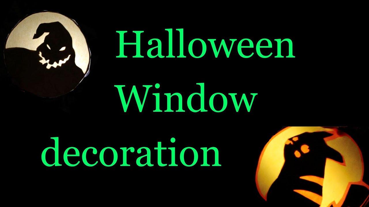 diy halloween window decoration youtube - Halloween Window