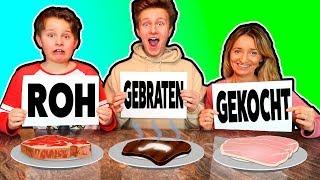 GEBRATEN - ROH - GEKOCHT Challenge 🤣 TipTapTube SH Gang @ash @echtso @marieland @ADDI-ONLINE