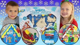 Painting Christmas Villages
