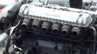 Rolls Royce Griffon V12 Mk58 36.7 litre engine run at Duxford Flying Legends