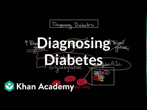 Diagnosing diabetes | Endocrine system diseases | NCLEX-RN | Khan Academy