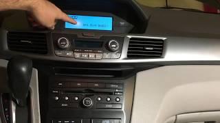 Update Radio Software on 2011 Honda Odyssey EX