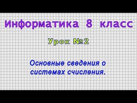 Видеоуроки по информатике 8 класс скачать бесплатно