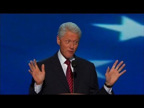 DNC 2012 - Bill Clinton's DNC Speech One-Liners - YouTube