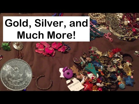 """Scoring Gold and Silver from Bags of """"Broken Jewelry"""" at the Thrift Store"""