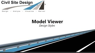 Civil Site Design  - Model Viewer Design Styles