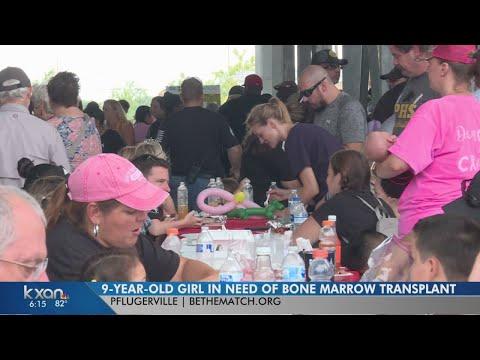 Hundreds fund raise for Pflugerville officer's daughter needing transplant