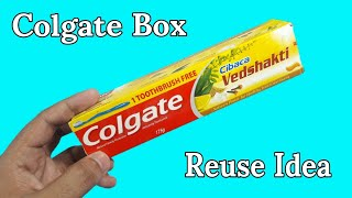 Best Out Of Waste From Colgate Box | Best Out Of Waste | Colgate Box Project