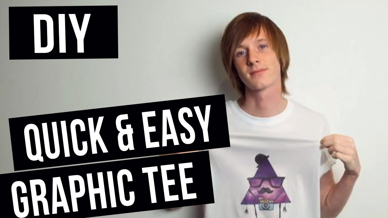Diy How To Screen Print Make A Graphic Shirt Youtube