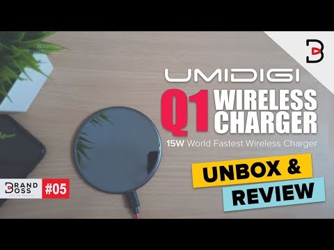 UMIDIGI Q1 World Fastest 15W Wireless Charger Unboxing & Review