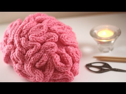 Studio knit s brain hat for halloween free pattern youtube for Brain hat template