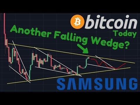 Bitcoin 3rd FALLING WEDGE?! | BREAKING: Samsung Galaxy S10 With Integrated CRYPTO Wallet!!