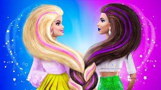 14 DIY Barbie Doll Hacks and Crafts / Barbie Blonde and Brunette