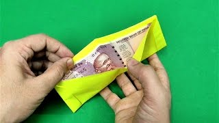 How to make origami paper wallet | Origami / Paper Folding Craft Videos & Tutorials.