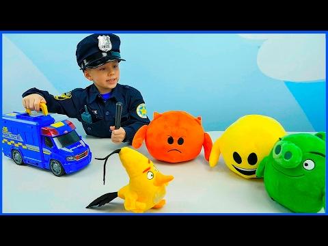 Cмотреть видео онлайн Полицейские Машинки и мальчик Полицейский Даник   Про Машинки для детей. Police Cars