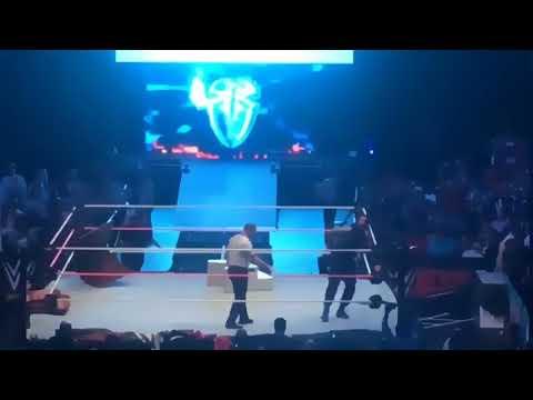 WWE LIVE ROCKFORD IL BMO CENTER 10/8/2017 FINAL MATCH ROMAN REIGNS VS BRAUN STROWMAN