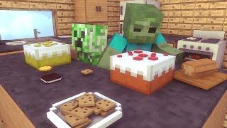Minecraft Escola Monstro #23 - O Melhor Bolo Monstro !!  Monster School