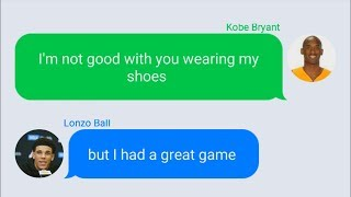 Kobe Bryant Texting Lonzo Ball After 36 Point Performance in Lakers vs Sixers NBA Summer League 2017