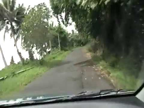 Driving in Masefau village American Samoa.