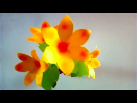 Paper Flower Crafts for Decoration Idea - Very Easy Paper Flowers Decoration at Home