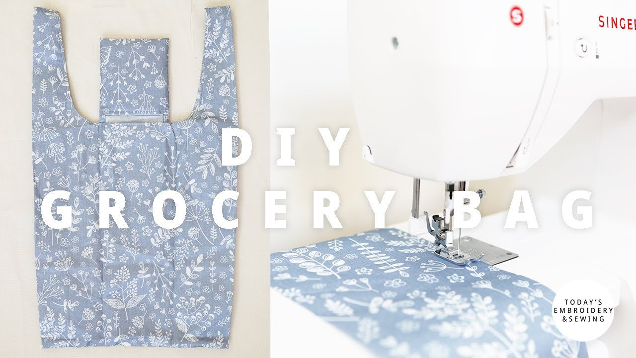 How to Make Shopping Bags that Fold into a Pouch, Reusable Foldable Grocery Bags Pattern(2020)